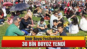 İzmir'in Meşhur Boyoz Festivali'nde 30 bin boyoz yendi