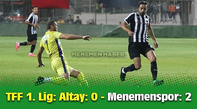 TFF 1. Lig: Altay: 0 - Menemenspor: 2