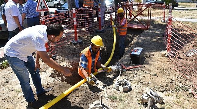 Aliağa Yeni Şakran'da doğal gaz bağlantıları bitti