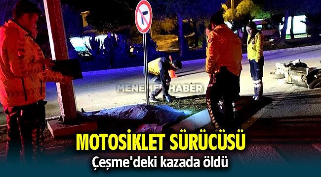 Çeşme'de motosiklet kazası