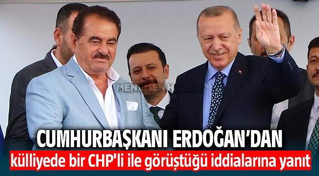 Cumhurbaşkanı Recep Tayiip Erdoğan İzmir'de Kılıçdaroğlu'nun külliyede bir CHP'li ile görüştüğü iddialarına yanıt verdi