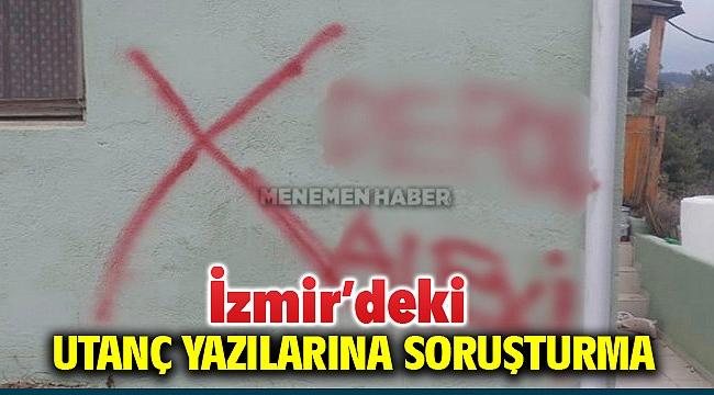 İzmir'deki alevi vatandaşların evine yazılan yazılara soruşturma