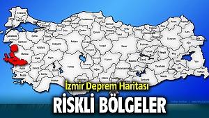 İzmir Deprem haritası ve Deprem Riski olan ilçeler