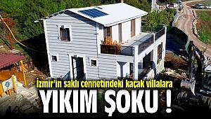 İzmir'in kalbinde Buca'da kaçak lüx villalara yıkım şoku!