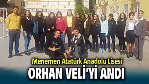 Menemen Atatürk Anadolu Lisesi Orhan Veli'yi andı