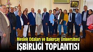 Menemen Meslek Odaları ve Bakırçay Üniversitesi'nden iş birliği toplantısı