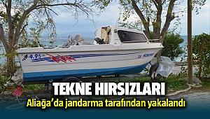 Aliağa'da Tekne Hırsızlarını Jandarma Yakaladı