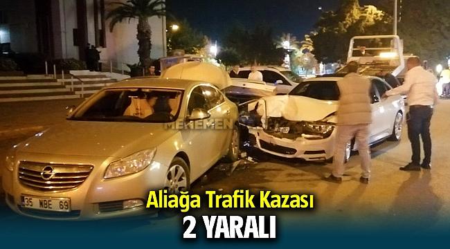 Aliağa Trafik Kazası ; 2 yaralı