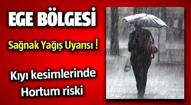 Aydın ve İzmir'in kıyı kesimlerinde hortum uyarısı