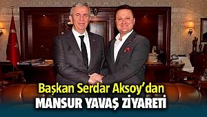 Başkan Serdar Aksoy'dan Mansur Yavaş ziyareti