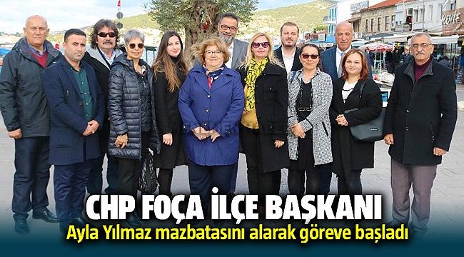 CHP Foça'nın yeni başkanı Ayla Yılmaz göreve başladı