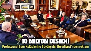 İzmir Büyükşehir Belediyesi'nden Profesyonel spor kulüplerine 10 milyonluk destek