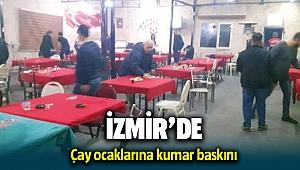 İzmir'de çay ocaklarına kumar operasyonu: 33 kişi yakalandı