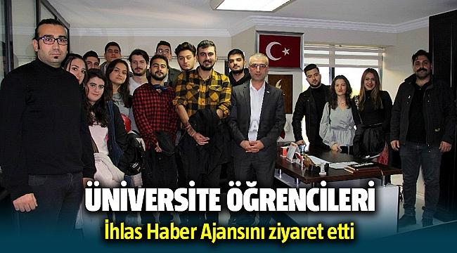 İzmir Kavram MYO öğrencilerinden İHA'ya ziyaret