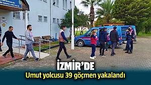 İzmir Seferihisar'da 39 düzensiz göçmen yakalandı