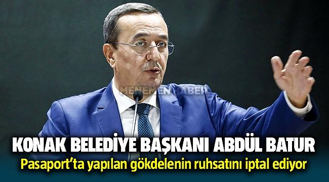 Konak Belediye Başkanı Abdül Batur Pasaport'ta yapılan gökdelenin ruhsatını iptal ediyor
