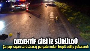 Menderes'de bir kişiye çarpıp kaçan sürücüyü jandarma iz sürerek yakaladı