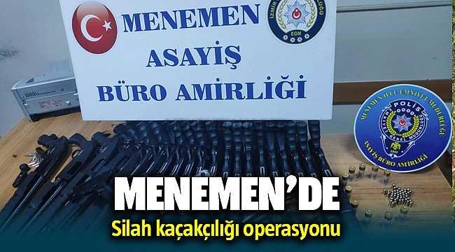 Menemen'de silah kaçakçılığı operasyonu: 1 gözaltı