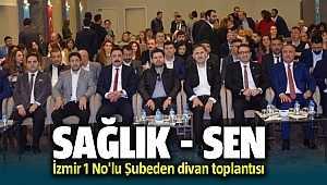 Sağlık-Sen İzmir 1 No'lu Şube divan toplantısını Çeşme'de yaptı