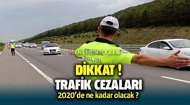 Trafik cezaları 2020 fiyatları