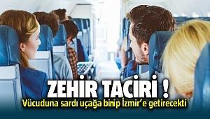 Van'dan İzmir'e gelirken vücuduna uyuşturucu sardı yakalandı