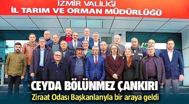 AK Parti İzmir Milletvekili Ceyda Bölünmez Çankırı, Ziraat Odası Başkanlarıyla bir araya geldi