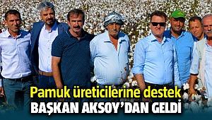 Başkan Serdar Aksoy'dan Pamuk üreticilerine alım desteği geldi