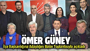 CHP'li Ömer Güney İlçe Başkanlığına Adaylığını Basın Toplantısında açıkladı