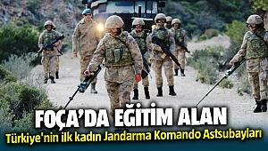 Foça Jandarma Komando Okulundan eğitim alan Türkiye'nin ilk kadın Jandarma Komando Astsubayları
