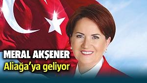 İyi Parti Genel Başkanı Meral Akşener Aliağa'ya geliyor