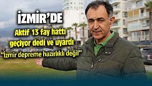 İzmir'de aktif 13 fay var İzmir Depreme hazır değil diyerek uyardı