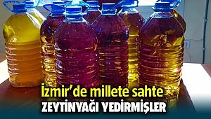 İzmir Tire'de vatandaşa Sahte zeytin yağlarını yedirmişler