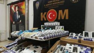 İzmir'de 250 bin  lira değerinde gümrük kaçağı ürüne el konuldu