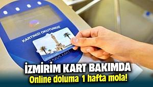 İzmirim Kart bakımda 1 hafta internetten dolum yapılamayacak