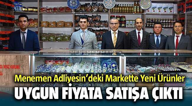 Menemen adliyesi'ndeki sosyal markette mahkumların ürettikleri ürünler satılıyor