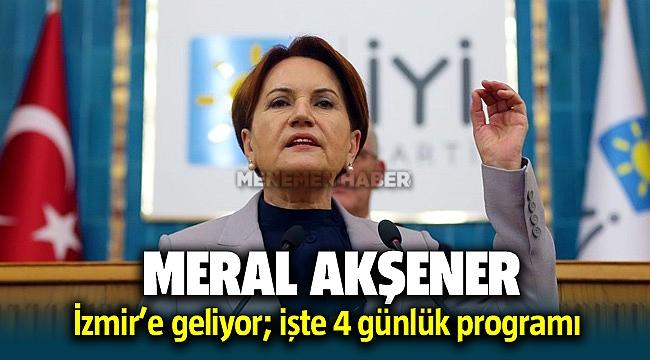 Meral Akşener Menemen'de Fırat Çakıroğlu Parkının açılışına katılıyor