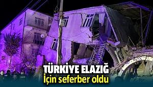 Türkiye Elazığ depremi için seferber oldu
