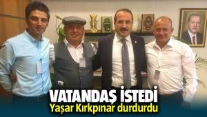 AK Partili Kırkpınar taş ocağını istemeyen köylülerin sesine kulak verdi