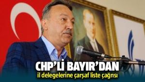 CHP İzmir Milletvekili Tacettin Bayır'dan il delegelerine SMS'li çağrısı