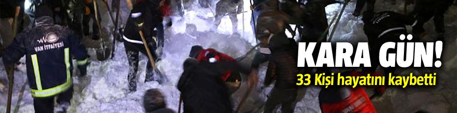 Çığ Faciasında 33 kişi hayatını kaybetti