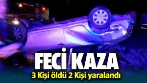 Denizli Tavas'da Otobüs Kazası; 3 Kişi öldü 2 kişi yaralandı