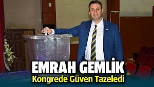 Emrah Gemlik Menemen Fenerbahçeliler Derneği kongresi'nde güven tazeledi