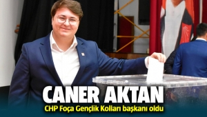 Foça CHP Gençlik kolları başkanı Caner Aktan oldu