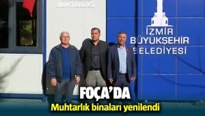 Foça'da muhtarlık binaları yenilendi