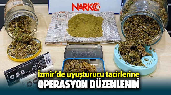 İzmir Çeşme polisinden uyuşturucu satıcılarına darbe