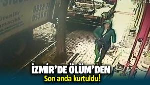 İzmir'de bir kadın son anda ölümden kurtuldu