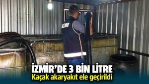 İzmir'de üç bin litre toprak altında kaçak akaryakıt yakalandı