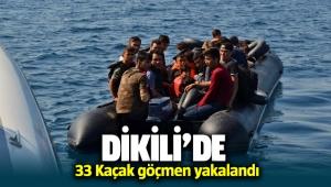 İzmir Dikili'de 33 kaçak göçmen yakalandı