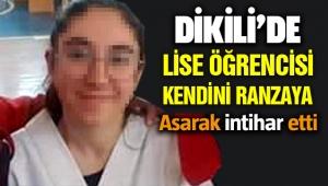 İzmir Dikili'de lise öğrencisi intihar etti!
