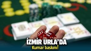 İzmir Urla'da kumar baskını